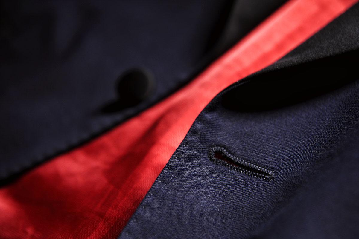 smoking dinner jacket midnight blue detail